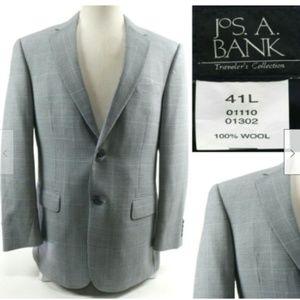 Jos. A Bank Men's Blazer Sport Coat Size 41L Gray